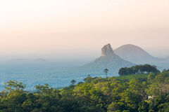 Mount Coonowrin of Glass House Mountains stock photo