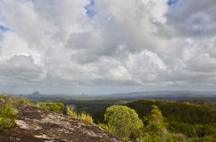 Mount Cooroora from Mount Tinbeerwah, Sunshine Coast, Queensland, Australia. Looking out over Mount Cooroora from the rhyolitic dome of Mt Tinbeerwah.The Royalty Free Stock Images