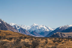 Mount D`Archiac and the Southern Alps at The Rangitata River Hak Royalty Free Stock Photo