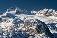 The glacier of the Dachstein in Upper Austria royalty free stock photography