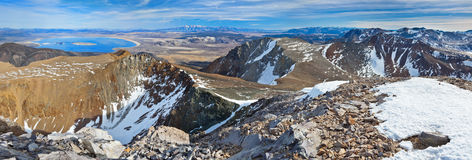Mount Dana in Yosemite National Park & Mono Lake Royalty Free Stock Images