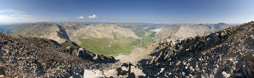Mount Democrat Summit Panorama Royalty Free Stock Photography