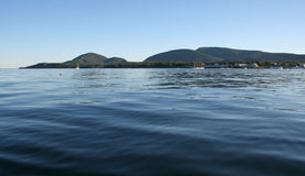 Mount Desert Island from the Sea Stock Photos