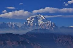 Mount Dhaulagiri on a cloudy day royalty free stock photography