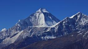 Mount Dhaulagiri and Tukuche Peak. High mountains of the Himalaya Range. Dhaulagiri, seventh highest mountain in the world royalty free stock photography