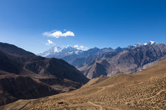 Mount Dhaulagiri and Tukuche Peak. Nepal royalty free stock photography