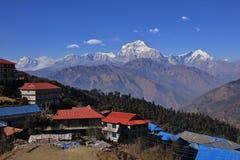 Mount Dhaulagiri, view from Gorepani stock photography
