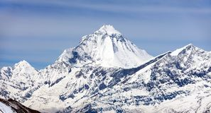 Mount Dhaulagiri, view from Thorung La pass Royalty Free Stock Images
