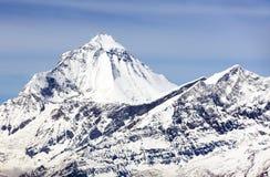 Mount Dhaulagiri, view from Thorung La pass Royalty Free Stock Image
