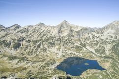 Mount Djangala and Popovo Lake in Pirin National Park, Bulgaria royalty free stock photography