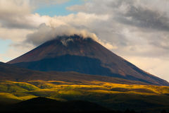 Mount Doom. In Mordor or in real life Mount Ngauruhoe in Tongariro National Park, New Zealand Royalty Free Stock Image