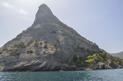 Mount Eagle Qoba Qaya in the eastern part of the Crimea in the village of Novy Svet. Mount Eagle Qoba Qaya, low reef 165 m in the eastern part of the Crimea in royalty free stock images