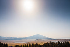 Free Mount Eboshi With Two Lakes In Aso Stock Photography - 24857892