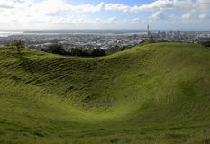Mount Eden, Auckland. View of Auckland skyline from Mt. Eden royalty free stock images