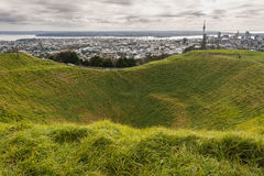 Mount Eden crater Stock Photography