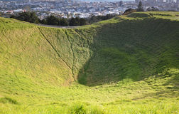 Mount Eden Mount. Oakland. New Zealand. Royalty Free Stock Photo