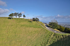 Mount Eden Mount. Oakland. New Zealand. Royalty Free Stock Images