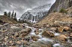 Mount edith cavell stock image
