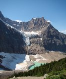 Mount Edith Cavell with Angel Glacier. The view of Angel Glacier, and Mount Edith Cavell on a bright summer day stock image