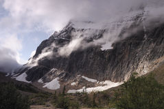 Mount Edith Cavell in Canadian Rockies Royalty Free Stock Photography