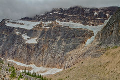 Mount Edith Cavell Glacier. Alberta, Canada royalty free stock images