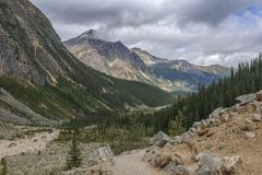 Mount Edith Cavell Hiking Loop Trail royalty free stock image