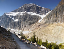 Mount Edith Cavell, Rocky Mountains Royalty Free Stock Photos