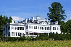 The Mount, Edith Wharton`s summer home. The Mount was the home of famous American writer Edith Wharton. The estate is located in Lenox, in the heart of the royalty free stock photos