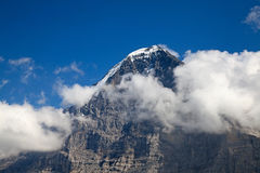 Mount Eiger. In the Jungfrau region stock images