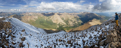 Mount Elbert Summit Panorama Stock Photos