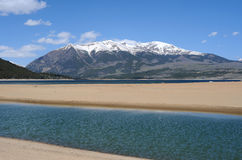 Mount Elbert at Twin Lakes Royalty Free Stock Image