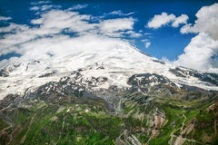 Mount Elbrus in clouds Stock Photography