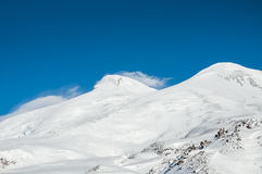 Mount Elbrus, the highest peak of Europe Royalty Free Stock Photos