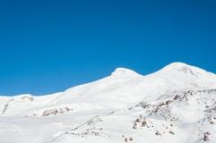 Mount Elbrus, the highest peak of Europe Royalty Free Stock Image