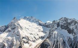 Mount Elbrus Kaukasus Arkivfoto