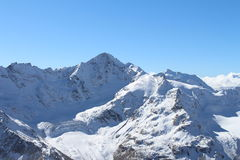 Mount Elbrus Kaukasus bergskedja, Ryssland Royaltyfria Bilder