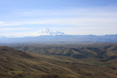Mount Elbrus scenic Royalty Free Stock Images