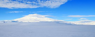Mount Erebus, Antarctic volcano Royalty Free Stock Photos