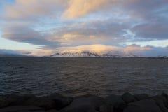 Mount Esja, Reykjavik Iceland Stock Image