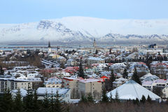Mount Esja and Reykjavik Royalty Free Stock Images