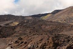 Mount Etna. Сицилия. Стоковая Фотография