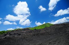 Mount Etna. Lava field on Mount Etna volcano, Sicily, Italy stock photography