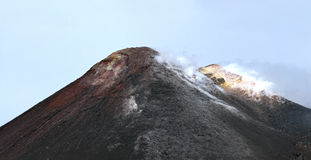 The top of Mount Etna Royalty Free Stock Photography