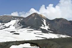 Mount Etna arkivbild
