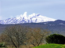 Mount Etna -. Europe's highest active volcano Stock Photo