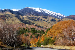Mount Etna in autumn Stock Image