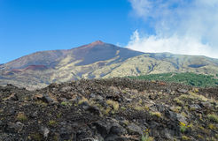 Mount Etna. Bottom view from the road stock photo