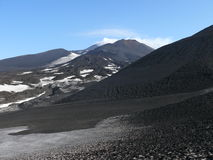 Mount Etna. Craters of volcano Etna, Sicily Royalty Free Stock Image