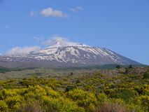 Mount Etna. Craters of volcano Etna, Sicily Stock Photos