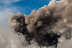 Mount Etna Eruption and lava flow Royalty Free Stock Photos